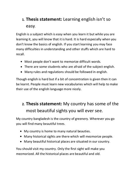 thesis statements about education thesis statement