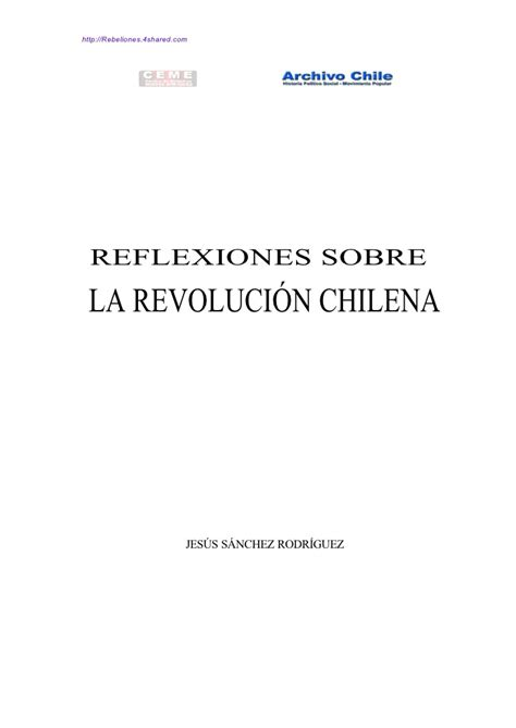 sobre la revolucion 19977128 jesus sanchez reflexiones sobre la revolucion chilena