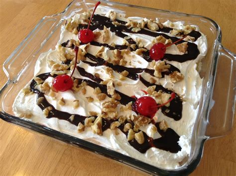 No Bake Banana Split Dessert S Baking Talent No Bake Banana Split Dessert