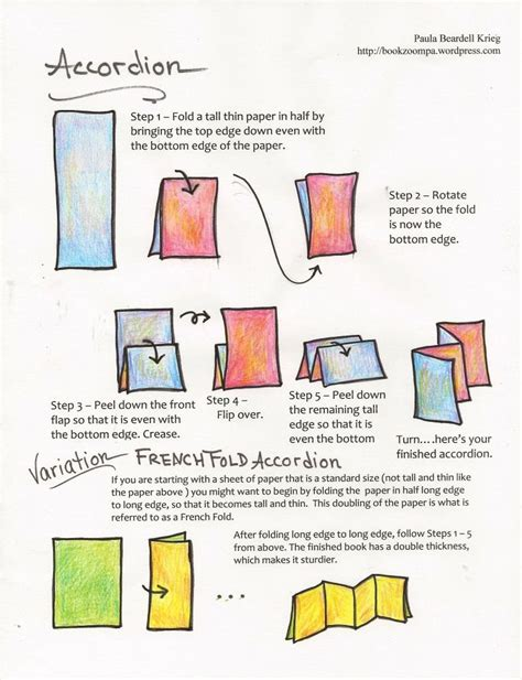 How To Make A Paper Story Book - four page accordion and smart boards smart boards