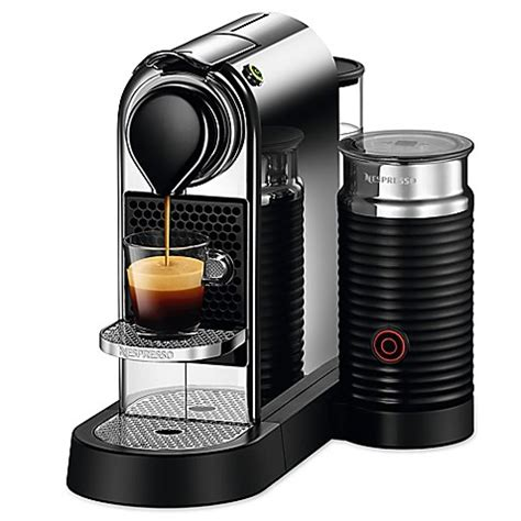 milk frother bed bath and beyond nespresso 174 citiz espresso maker with aeroccino3 milk
