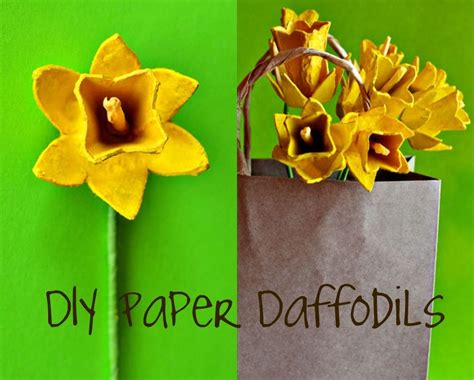 How To Make Paper Daffodils - paper flowers tutorial egg daffodils