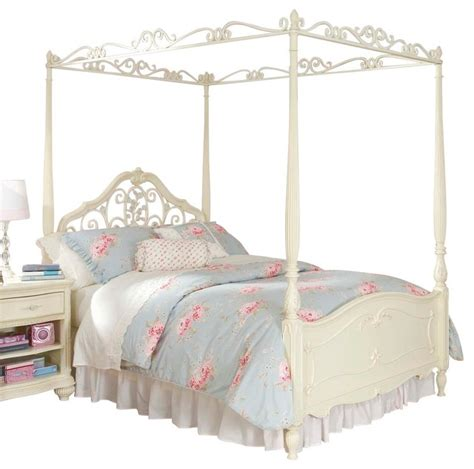 twin canopy bed frame lea jessica mcclintock canopy bed in antique white twin