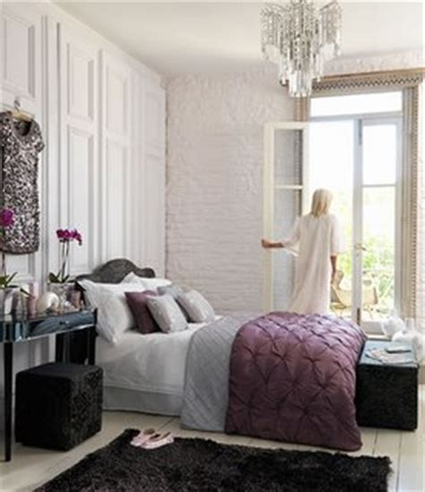 Purple And Grey Bedroom by Bedroom