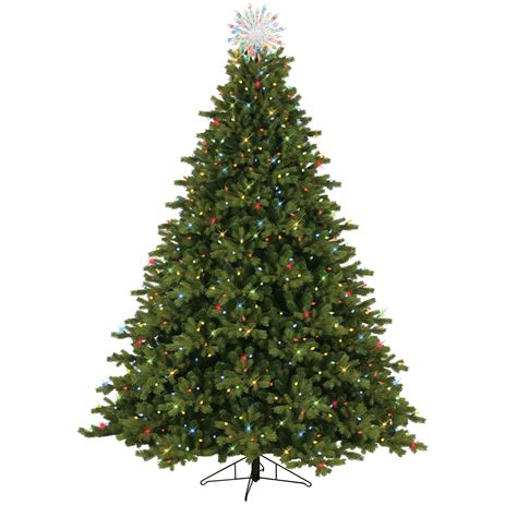 ge norway spruce 6 ft general electric 7 5 pre lit just cut spruce tree with 800 dual color led lights shop