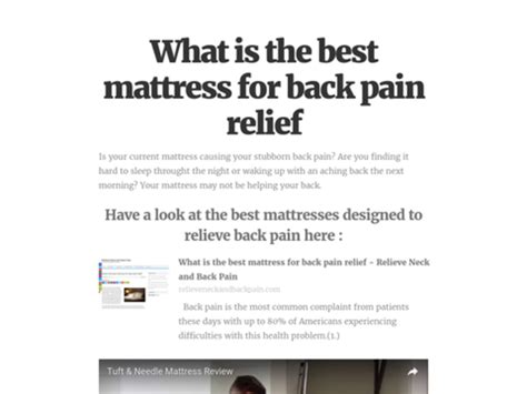 The Best Mattress To Buy For Back by Top Mattress To Relieve Back A Listly List