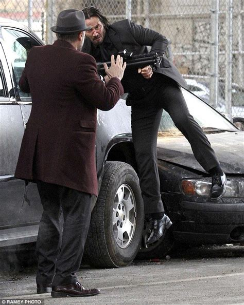 michael nyqvist john wick injury keanu reeves is after revenge as he shoots scenes for john