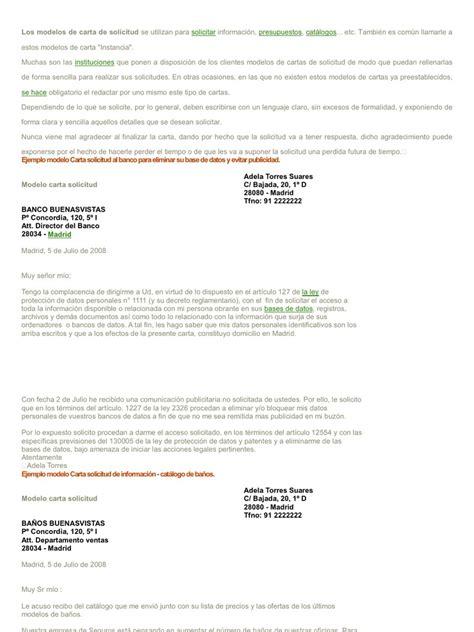 carta de solicitud de informacion los modelos de carta de solicitud se utilizan para solicitar informaci 243 n