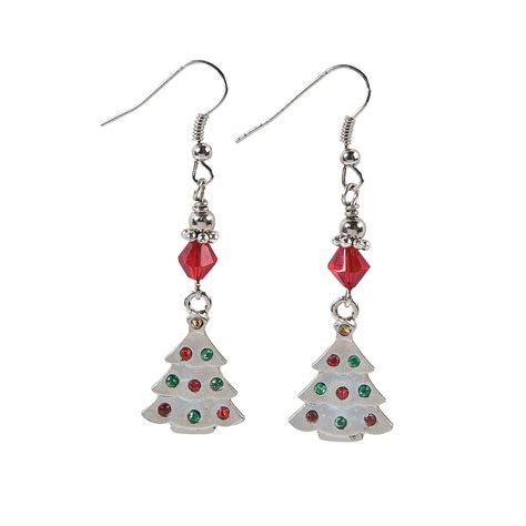 christmas earrings adults rhinestone tree earring craft kit jewelry crafts crafts craft hobby