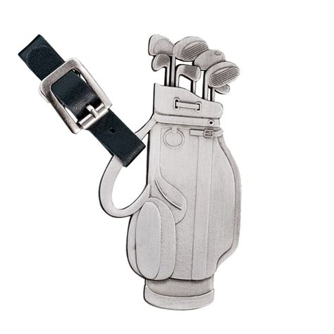personalized golf clubs bag tag view