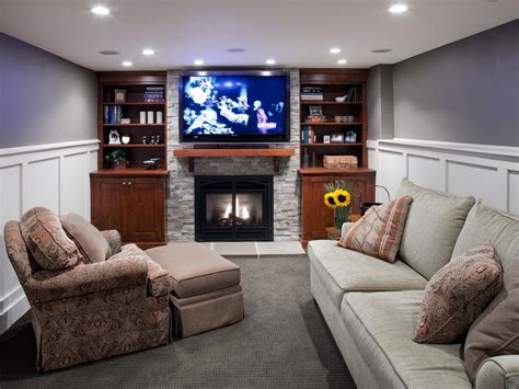 Basement Living Room by Heating Your Basement Hgtv