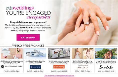Martha Stewart Wedding Sweepstakes - martha stewart weddings you re engaged sweepstakes martha stewart weddings