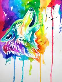 colorful wolf colorful wolf by lucky978 on deviantart