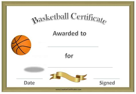Free Editable Basketball Certificates Customize Online Print At Home Basketball Award Templates