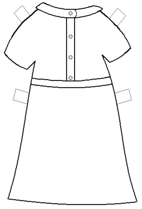 paper doll clothes template free printable paper doll template for a dress