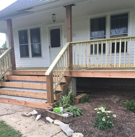 wrap around porch steps to door covered deck and open how to cover concrete steps with wood farmhouse on boone