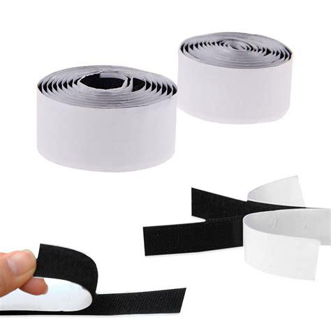 1 Rolls Strong Self Adhesive Velcro Hook Loop Fastener 1m Black 2 rolls strong self adhesive hook loop fastener