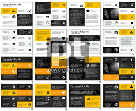 grid layout design presentation concept for powerpoint