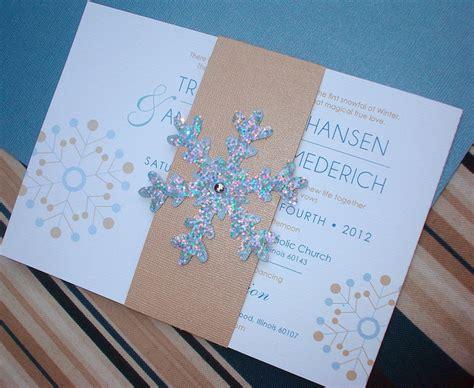 Winterliche Hochzeitseinladungen by Winter Snowflake Wedding Invitation
