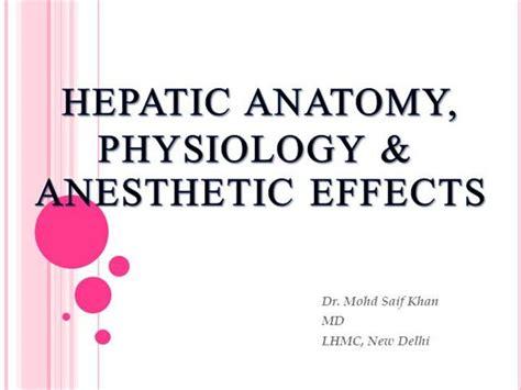 liver pathology anesthesia key hepatic anesthesia authorstream