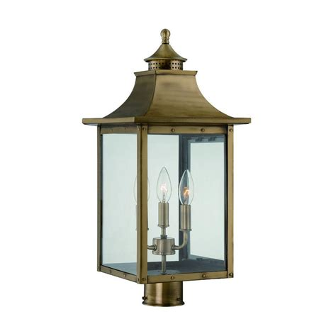 acclaim lighting st charles 3 light aged brass outdoor