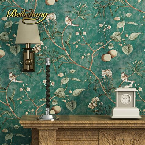 wallpaper for room walls in pune aliexpress com buy beibehang wall paper pune dark blue