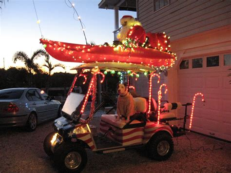 christmas decorated golf carts golf cart parade on terra ceia island island style more golf carts and golf