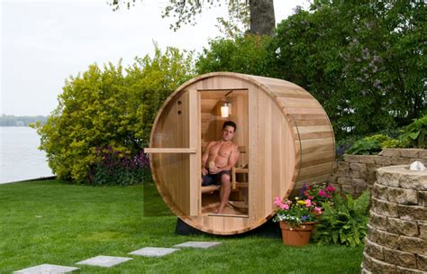 persons rustic barrel sauna ft  hot tub warehouse