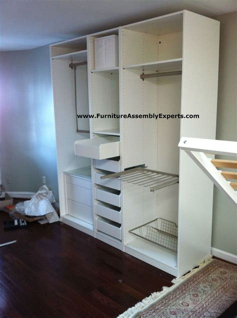 how to assemble ikea wardrobe ikea pax wardrobe with no doors assembled in washington dc