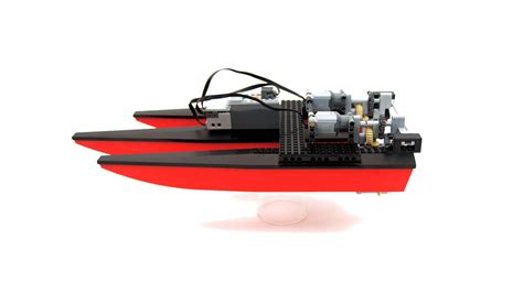 lego boat rc lego expert builds incredible rc boat with 3d printed