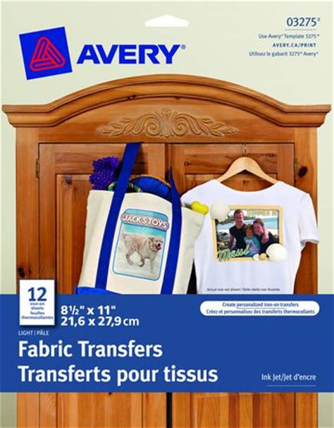 avery iron on transfers walmart avery 174 t shirt transfers for inkjet printers 12 pack at