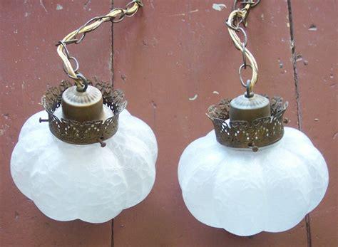 vintage hanging swag ls vintage double hanging lamp swag glass lights ceiling