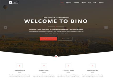 free landing page templates for bino free html5 landing page template designstub
