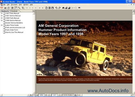 free online auto service manuals 1998 hummer h1 spare parts catalogs 1998 hummer h1 owners repair manual service manual hummer parts guy hpg mfgid owners manual
