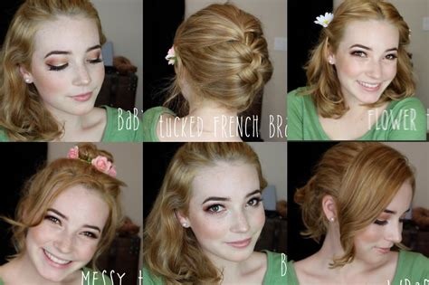 how to do quick messy hairstyles cute easy hairstyles for medium length hair with bangs