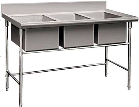 triple stainless steel sinks restaurant sink ideas new triple 3 three compartment commercial stainless steel