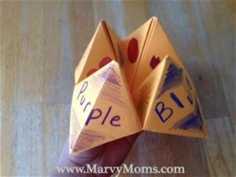 What Can You Make With Paper - with paper fortune tellers marvy