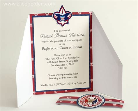 Eagle Scout Court Of Honor Invitation Template eagle scout court of honor invitation and scrapbook layout
