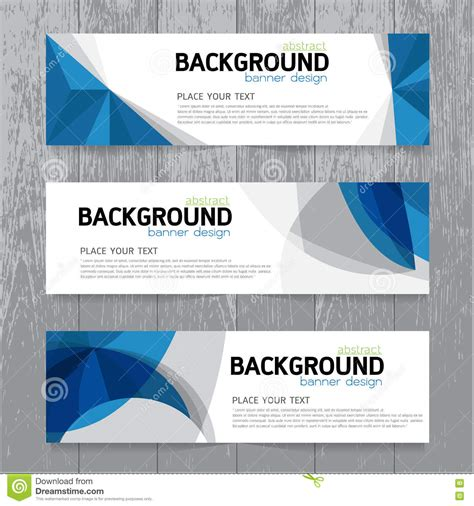 horizontal layout web design vector background banner collection horizontal business