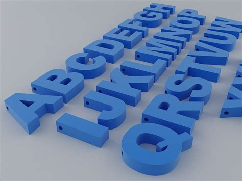 A to Z English Letters Alphabet free 3D Model 3D printable STL   CGTrader.com