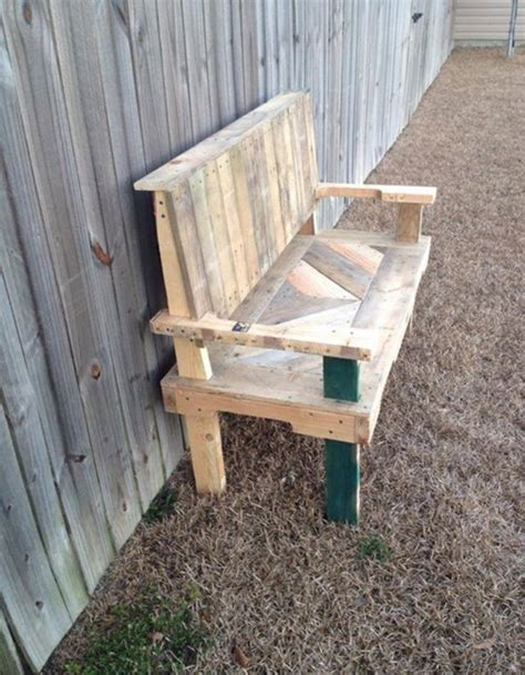 bench made of pallets pallets made garden chair bench pallet ideas recycled