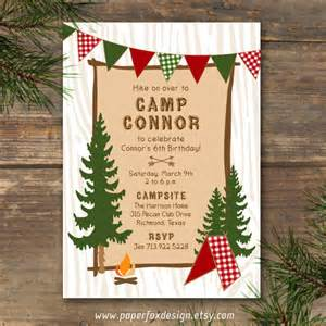 Backyard Campout Ideas Party Invitation Camp Theme Printable