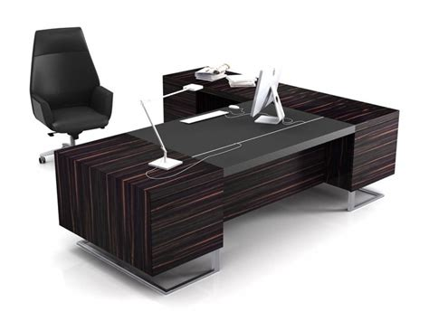 Black Office Desk Black Executive Desks L Shaped Executive Office