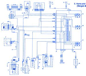 fiat x1 9 1986 horn electrical circuit wiring diagram