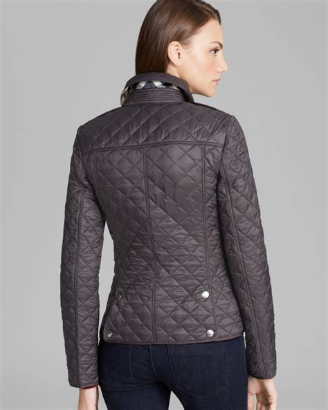 Burberry Quilt Jacket by Burberry Brit Kencott Quilted Jacket In Gray Lyst