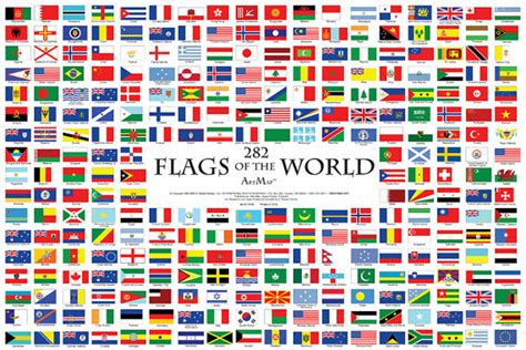flags of the world jigsaw puzzle game 282 flags of the world wall map poster