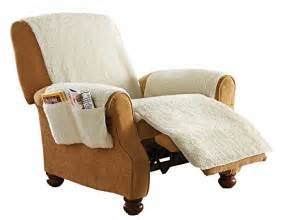 sheepskin covers for recliner chairs protective fleece 1 recliner protector furniture