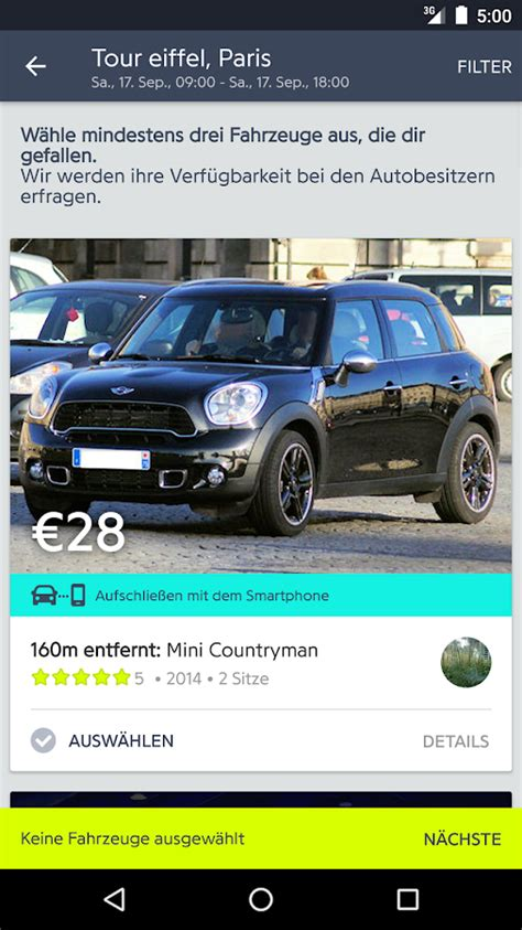 Privat Auto Mieten by Drivy Private Autos Mieten Android Apps Auf Google Play