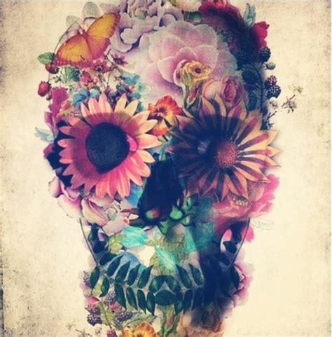 flower skull painting trippy flower skull trippy skulls and