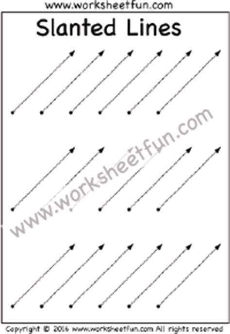 pattern writing slanting lines slanted line tracing one worksheet line tracing